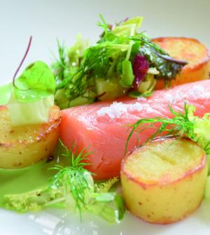 Lachs grüne Sauce